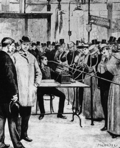 Demonstrasjon av fonograf