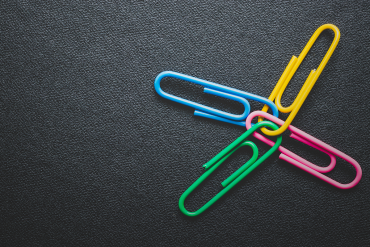 Four paper clips connected