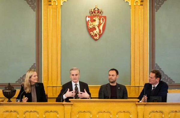 Konferanse på Stortinget.