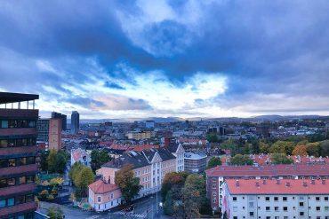 Utsikt fra NIFUs lokaler på Tøyen