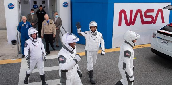 SpaceX Crew-1 Crew Walkout at NASA's Kennedy Space Center in Florida.