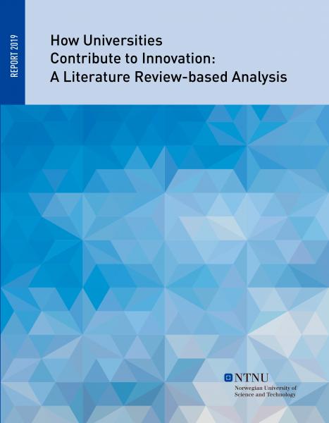 NTNUs rapport om universitetene og høyskolenes betydning for innovasjon (forside)
