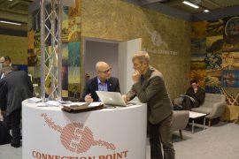 Cicero og Bellonas paviljong ved klima-konferansen i Paris 2015 (foto Cicero)