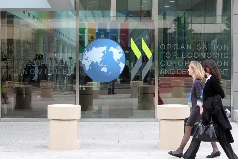 Inngangen til OECDs hovedkvarter i Paris (foto: OECD/Victor Tonelli)