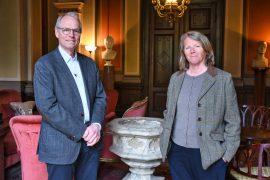 Preses Hans Petter Graver og generalsekretær Gunn Elisabeth Birkelund Foto Lisbet Jære